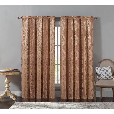 House of Hampton Chadderton Blackout Single Curtain Panel Color: Taupe