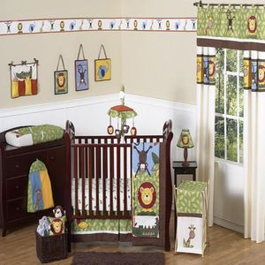 Sweet Jojo Designs Jungle Time Collection 11 Piece Baby Crib Bedding Set