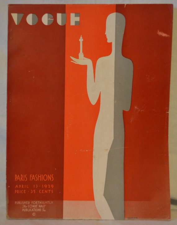 RARE Vintage 1929 Benito Art Deco VOGUE Iconic by whosyourdaddy71, $550.00