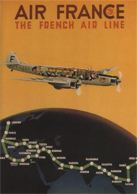 AIR FRANCE - THE FRENCH AIRLINE - 1934 - Vintage Airline Poster France (SG4556) | eBay