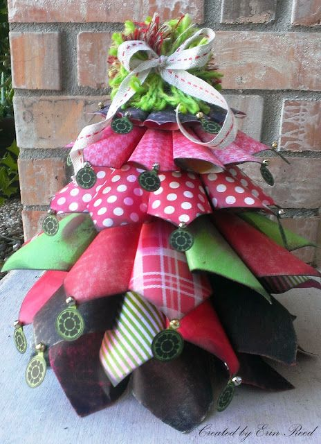 {my sweet earth} Sweet little paper cone tree DT Erin Reed made to give as a gift to someone for a handmade Christmas!!