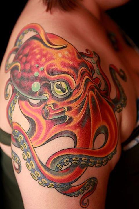 Classic american style octopus tattoo ideas pinterest for Classic american style