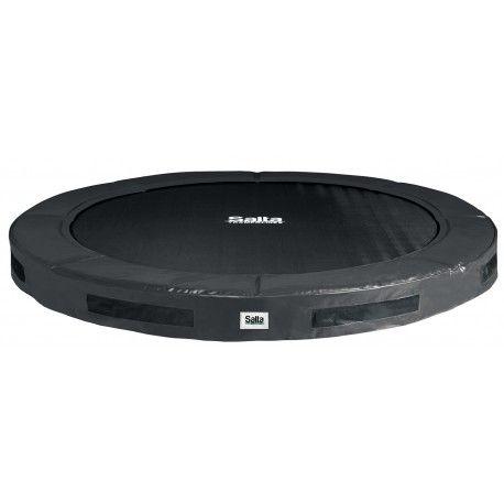 Salta trampoline inground excellent 213 cm (7ft) zwart + gratis verankering-set