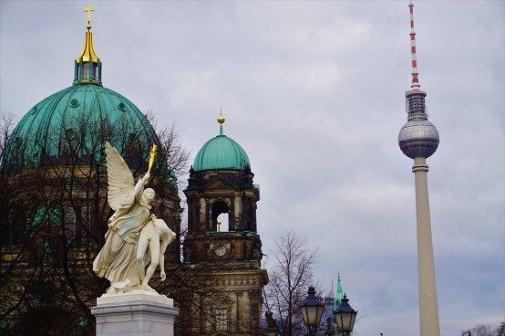 Two of Berlin's symbols: the Dom and the Fernsehturm