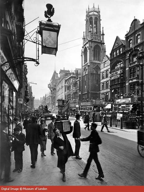 Fleet Street, 1920s. #history #places #london #victoriana #victorian #