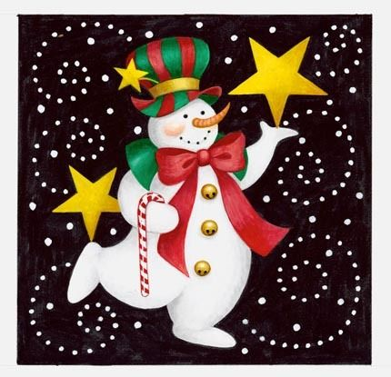 Carnival Snowman 1 by Stephanie Stouffer | Ruth Levison Design