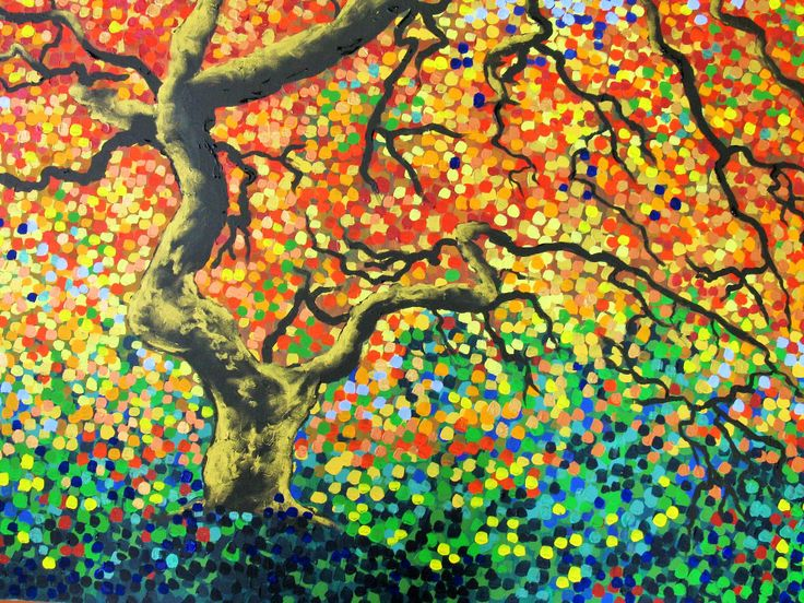 """""""Autumn Song"""" Acrylic by Sally Ford"""