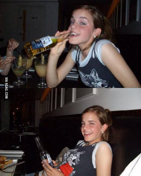Ever wanted to see a drunk Emma Watson?