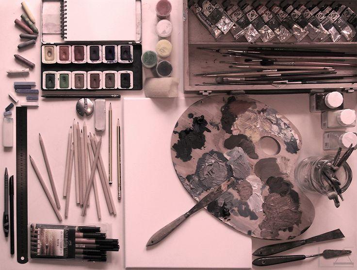 MESA DE TRABAJO (FILTRO) - DIBUJO Y PINTURA - Creado por 'el Lápiz de Alicia', para 'Los colores del Lápiz'.