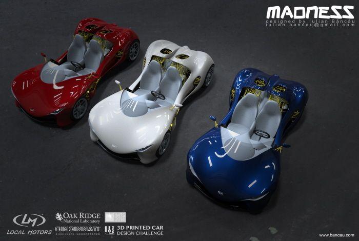 3D Printed Car designed by me