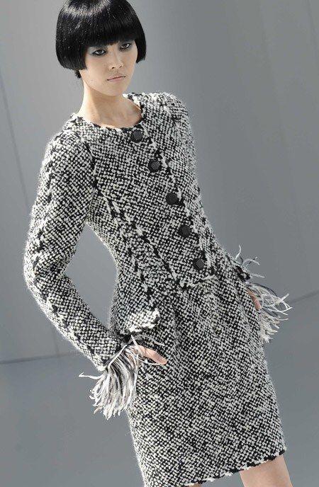 Chanel Robe en tweed défilé haute couture automne hiver 2008 - Défilé Haute couture Chanel automne hiver 2008 2009