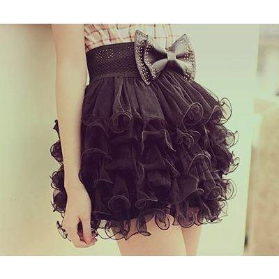 Ruffly Bow Skirt