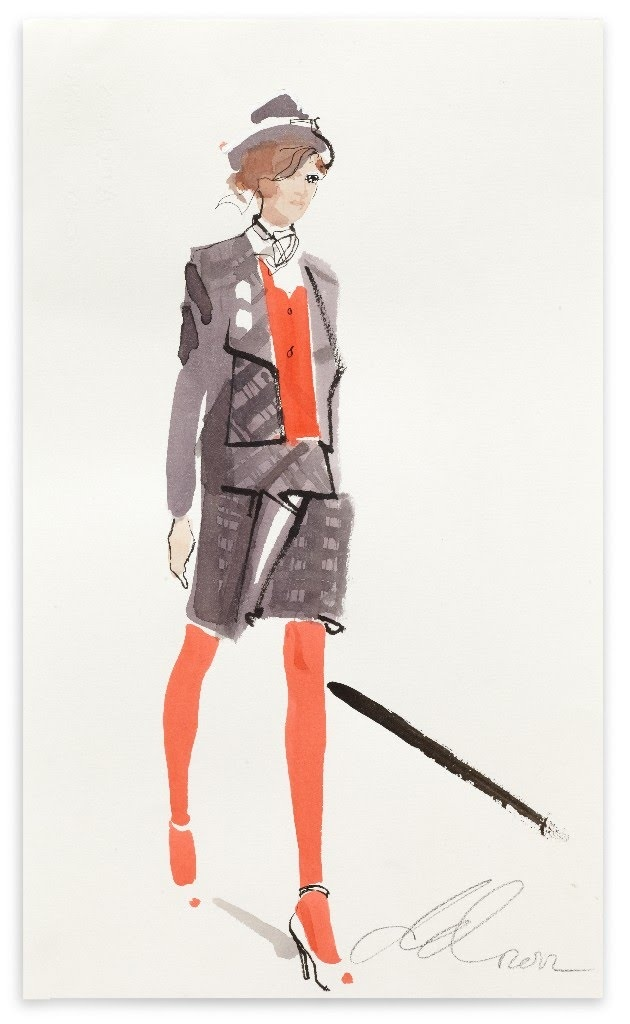 Westwood for Vogue.COM by David Downton