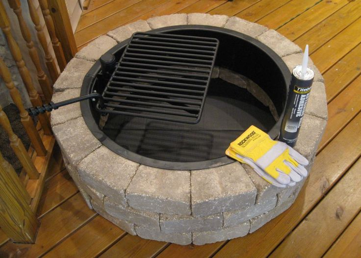 Rockwood Outdoor Fire Pit Kit   Wood burning fire pit ...