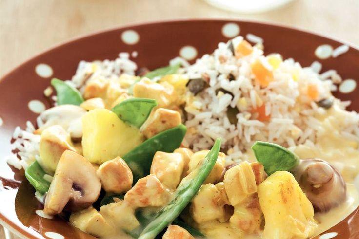 Kip met kerrie en ananas - Recept - Allerhande