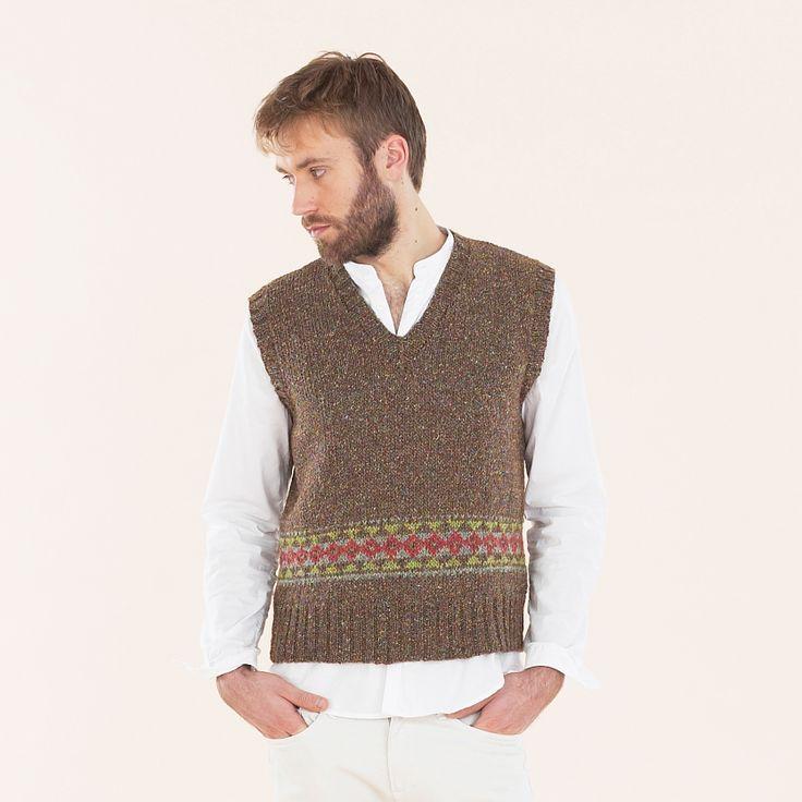 Sublime Luxurious Aran Tweed - Fair Isle Tank