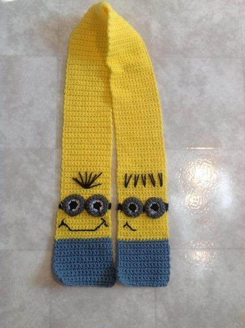 Free Crochet Pattern For Minion Scarf : 1000+ images about Crochet minion hat patterns on ...