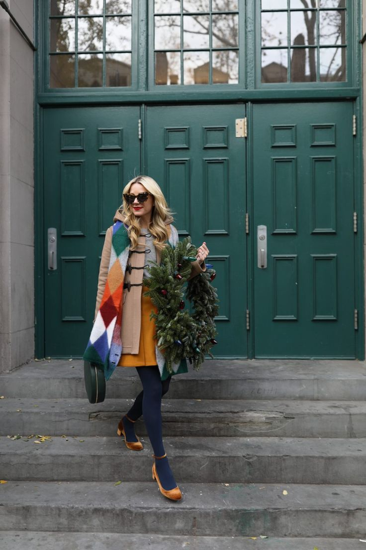 Atlantic Pacific Holiday Cheer // In J.Crew, Burberry, Mansur Gavriel, and Zara. West Village, NYC (A holiday party look)