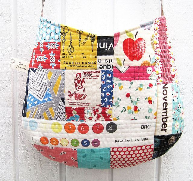 Learn the quilt as you go method while sewing up some super cute bags and pouches.