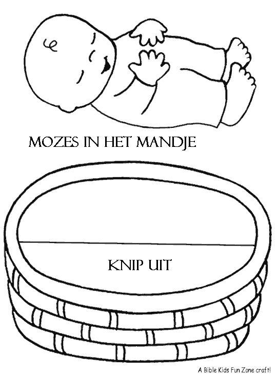 mozes in het biezen mandje #bijbel #God  moses baby #Bible