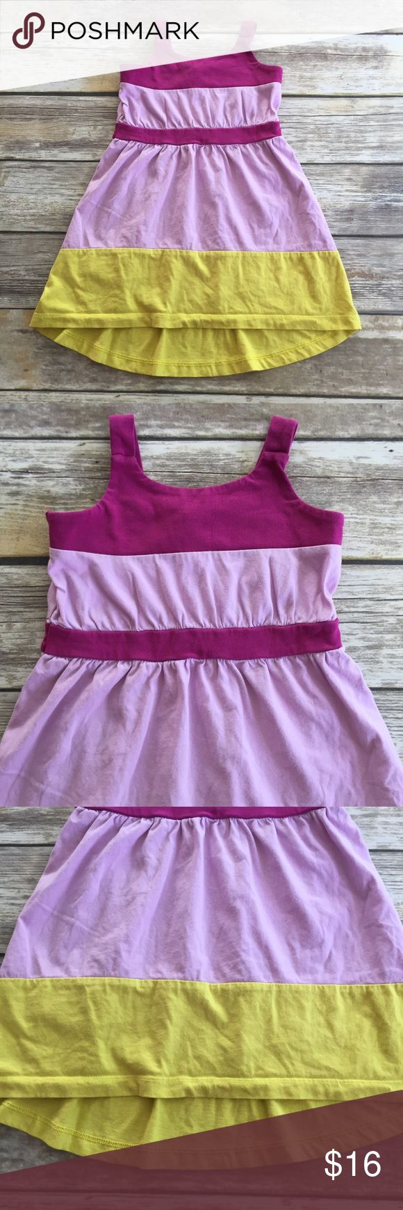 Tea Collection Hi-Lo Dress Taza Hi-Lo dress from Tea Collections Morocco destination. Color-blocked Sundress in purple yellow and lavender. EUC Tea Collection Dresses
