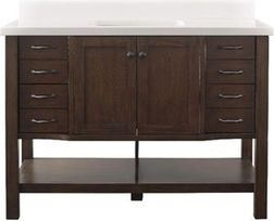 """48"""" Allen + Roth Kingscote Undermount Single Sink Bathroom Vanity with Engineered Stone Top from Lowe's $509.15 (15% Off) -"""