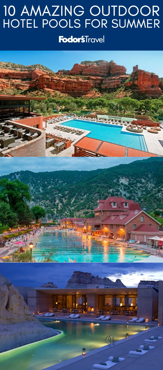Head to these hot properties for gorgeous outdoor pools, ample sunshine, and a lively scene. #summer #pools #hotels #swimming #travel