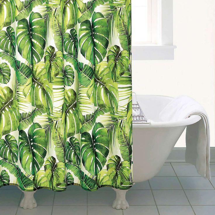 Tropical Leaf Shower Curtain | Dunelm