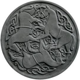 Celtic Horses Stepping Stone Mold, Concrete Molds,75 mil. polystyrene, by Garden Molds