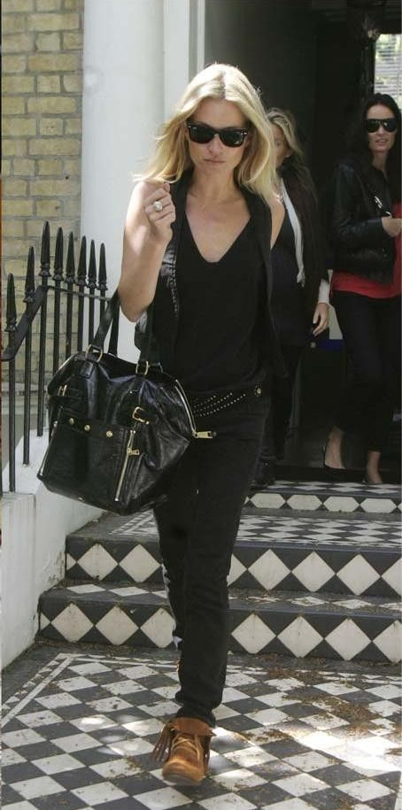 Kate Moss with her #YSL Downtown Tote- Get yours now @ www ...