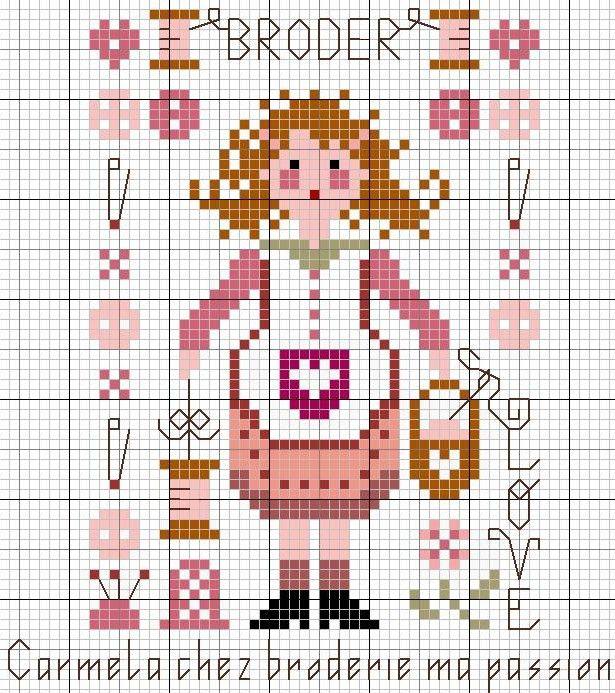 Via http://marie-amelie.over-blog.fr/ cross stitch freebie 'broder'