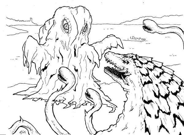 coloring page 2 by killustrationstudios