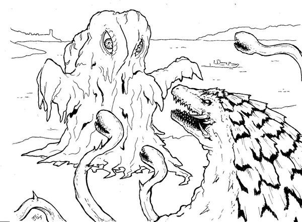 godzilla monsters coloring pages - photo#23
