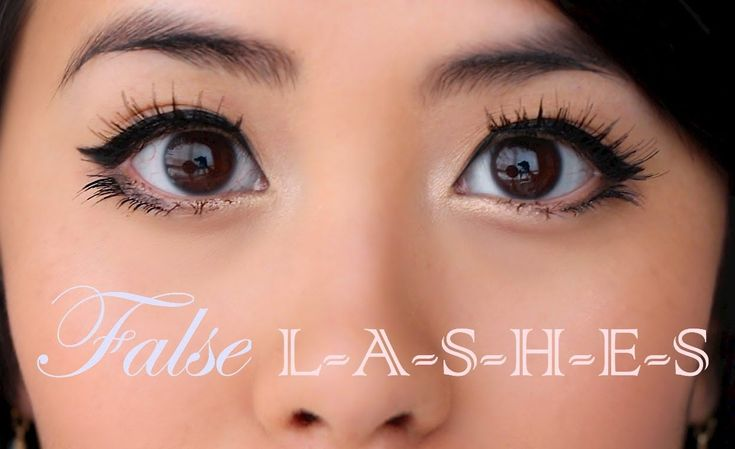 """How to Apply False Top & Bottom Eyelashes""; Natural, Comfortable, & Lon..."