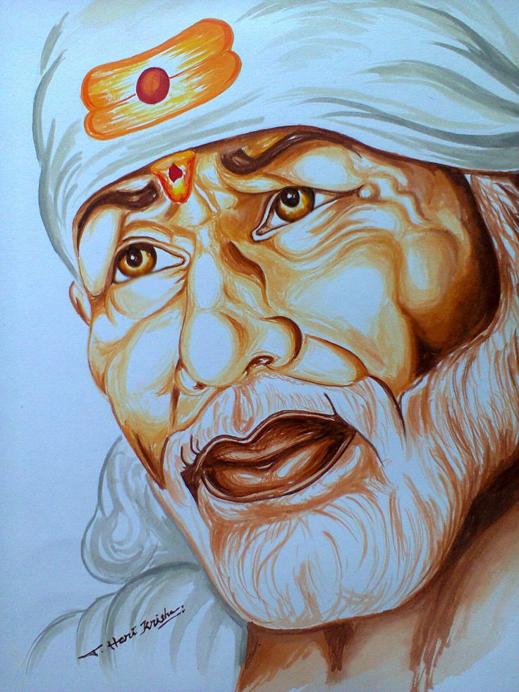Lord Sai Baba Painting...(acrylic paints)