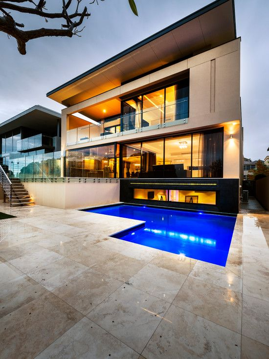 I actually love the exterior of this house - especially the all the walls from house come from that one point - but I'm not sold on the pool.