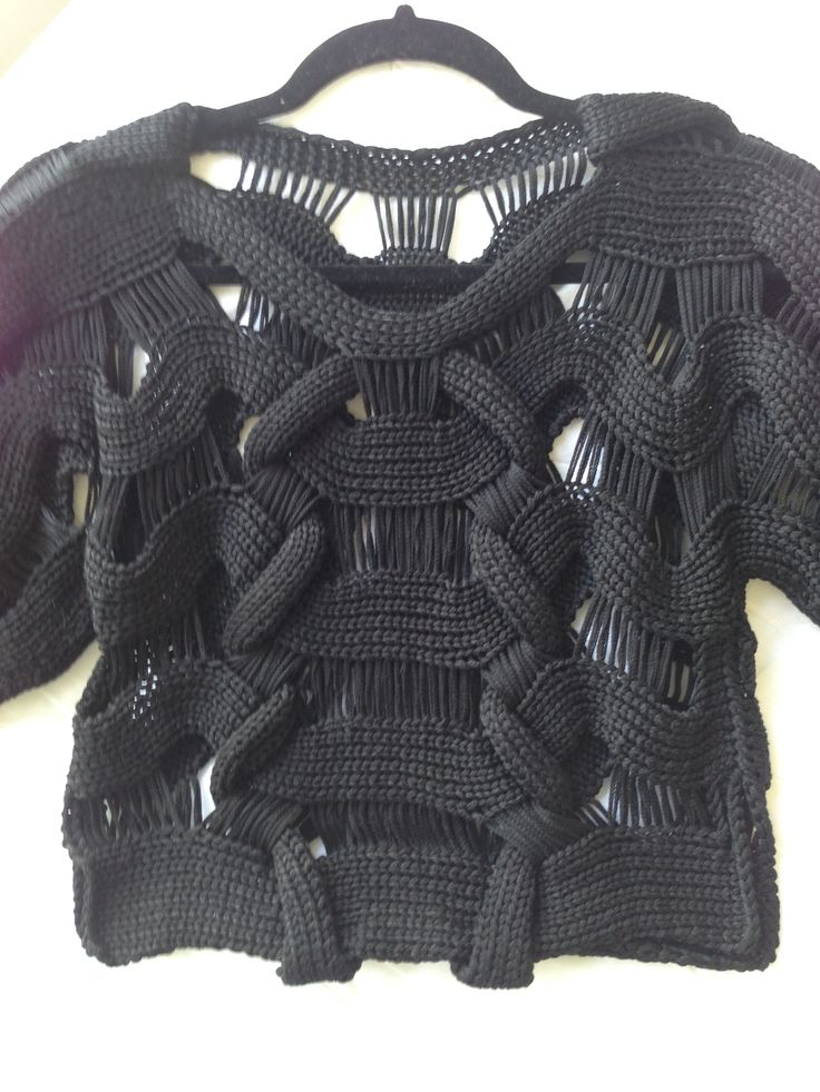 Mary Callan Knitwear tape yarn top www.facebook.com/marycallanknitwear