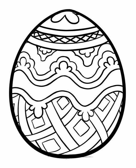 42 Easy Easter Coloring Pages Easter Egg Coloring Pages