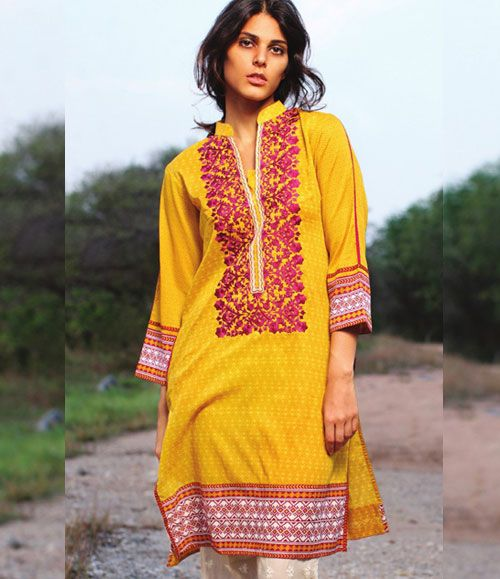 Orient Embroidered Lawn Kurti Collection 2015 OTL_109C