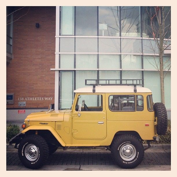 I owned one of these and in this color:    Toyota Landcruiser FJ 40