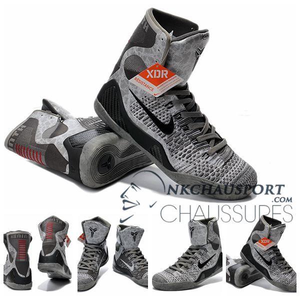 Nike Kobe Bryant 9 | Nouvelle Chaussure De Basket Montante Homme Blanche Grise-1