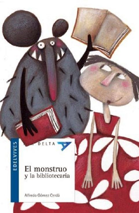 """""""El monstruo y la bibliotecaria"""" de Alfredo Gómez Cerdá. Hay un monstruo en Albacete, normal y corriente, al que le gusta mucho esta ciudad por los inviernos tan fríos que tiene. Lo malo son los calurosos veranos. Por eso se encuentra tan a gusto en una tienda de aparatos de aire acondicionado. Un día por casualidad llega a una biblioteca. Allí descubre lo interesantes y divertid os que son los libros, y también el amor de su vida: una bibliotecaria."""