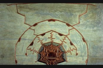 Modello degli attacchi a una cittadella, legno policromo, prima metà sec. XVIII, 150x100 cm. Nella tavola è rappresentato un sistema di attacco (alla maniera di Vauban) a una fortificazione, con trincee a zig zag per defilarle dal fuoco nemico.