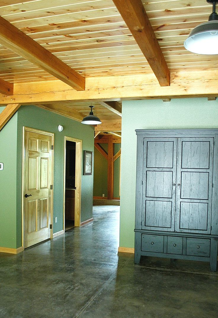 12 best timber frame beamed ceilings images on pinterest for Exposed wood beam ceiling