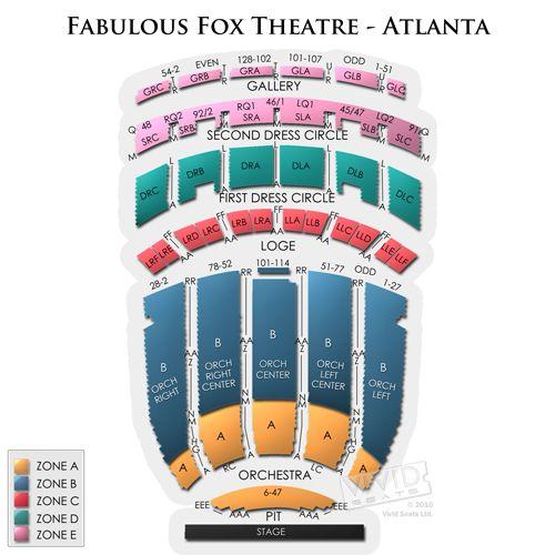 Fox Theatre Atlanta Seating Chart Theatre, Seating