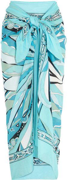 Emilio Pucci ~ Printed Cottonvoile Sarong