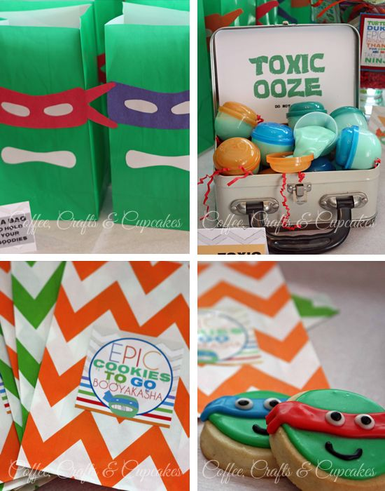 Coffee, Crafts & Cupcakes: Teenage Mutant Ninja Turtle Party