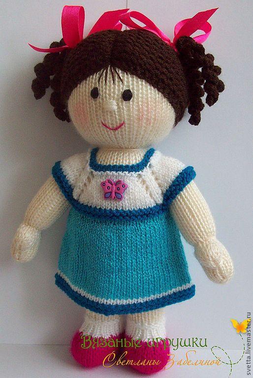 """Купить """"Куколка с комплектом нарядов"""" вязаная игрушка - кукла, вязаная кукла, девочка, платье, сарафан"""