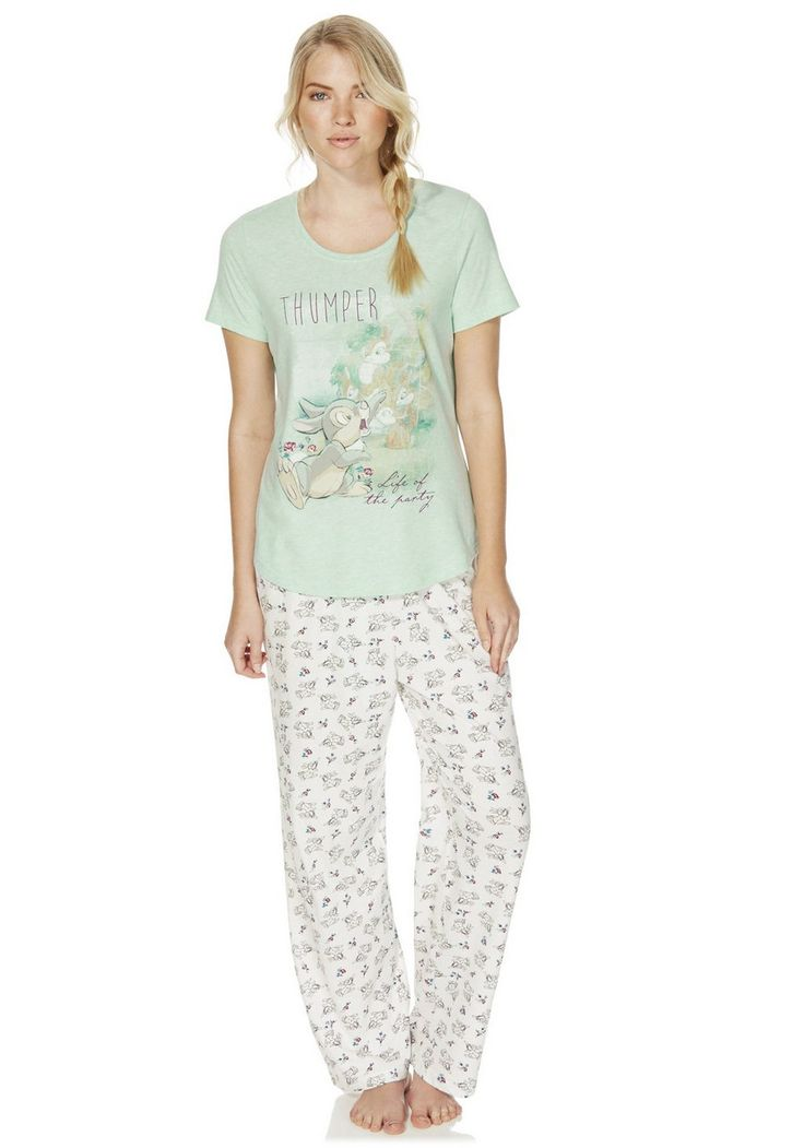 clothing at tesco  disney bambi thumper print pyjamas