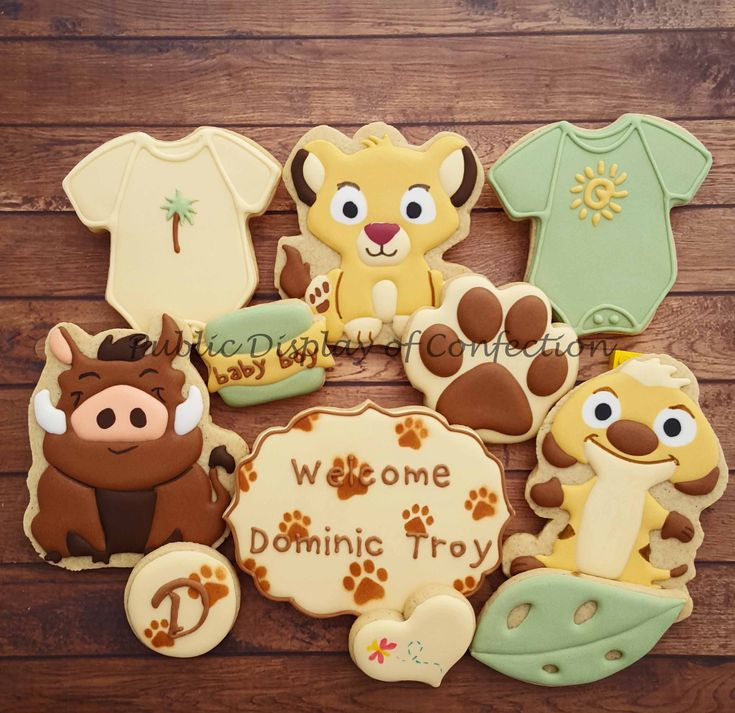 Baby Shower  Cookies  Lion King  Public Display Of Confection